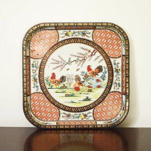 Daher Decorative Roosters Tray